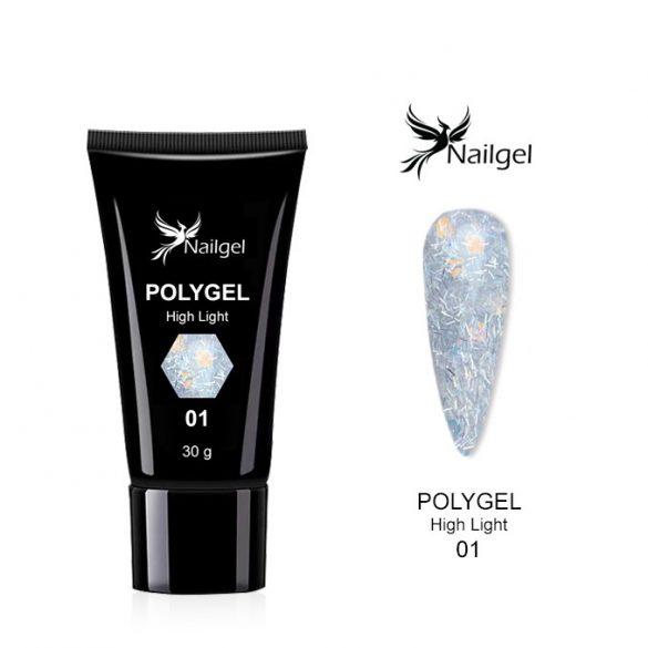 Polygel High-light Glitter  001- 30 ml