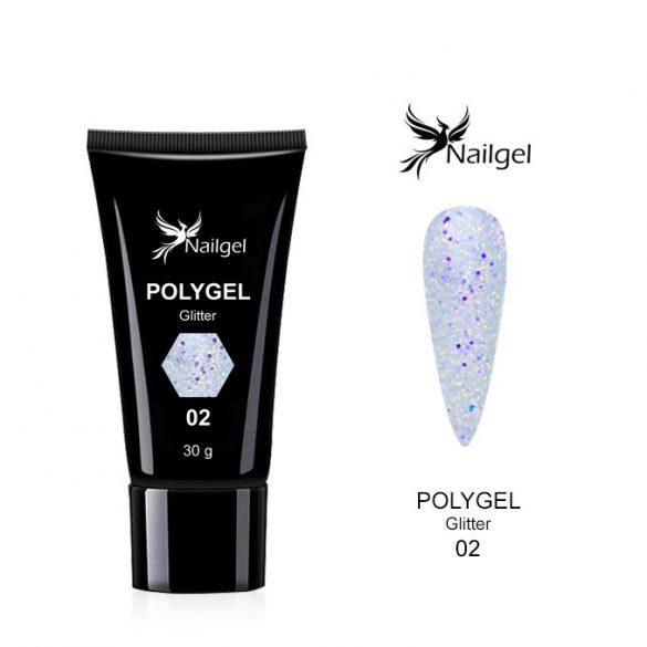Polygel Glitter  002- 30 ml
