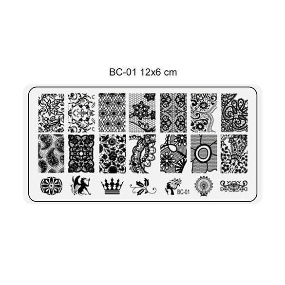 Körömnyomda lemez 6x12 cm méretű -BC01