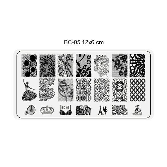 Körömnyomda lemez 6x12 cm méretű -BC05