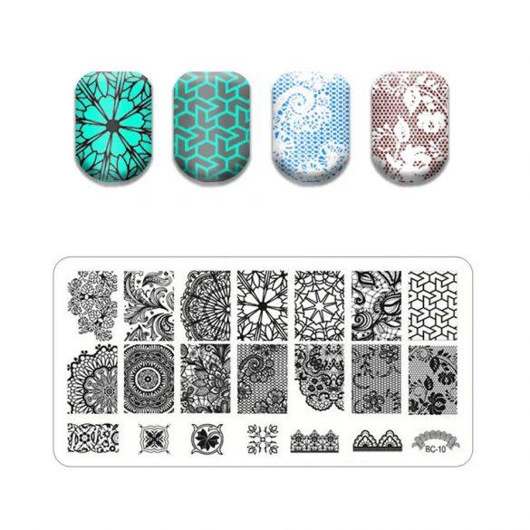 Körömnyomda lemez 6x12 cm méretű -BC10