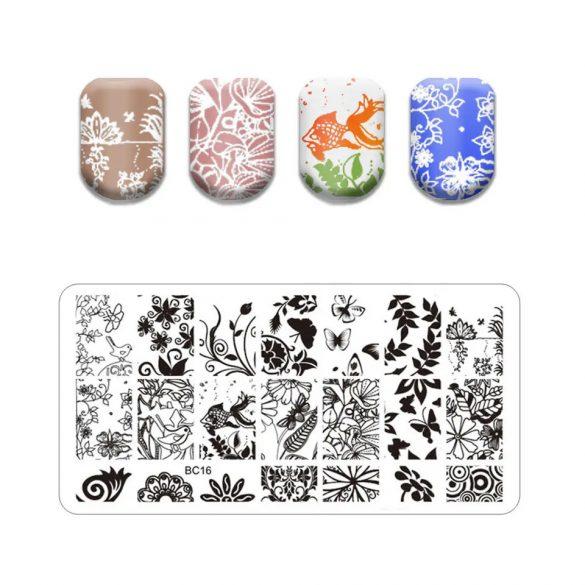 Körömnyomda lemez 6x12 cm méretű -BC16