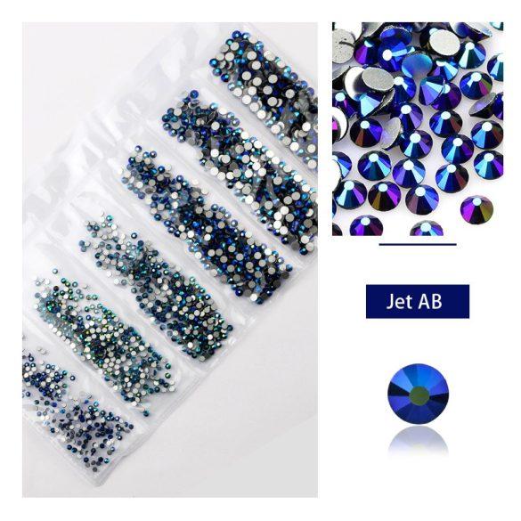 1680 darabos kristály strassz készlet  6 féle méretben P09- Jet AB