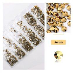 1680 darabos kristály strassz készlet  6 féle méretben P17 - Aurum