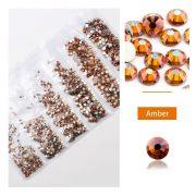 1680 darabos kristály strassz készlet  6 féle méretben P21 - Amber