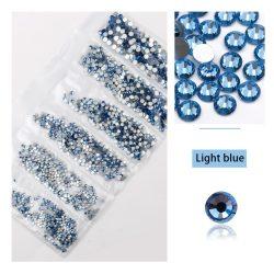 1680 darabos kristály strassz készlet  6 féle méretben P25 - Light blue