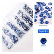 1680 darabos kristály strassz készlet  6 féle méretben P26 - Sapphire