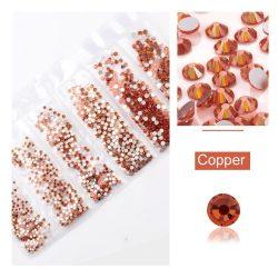 1680 darabos kristály strassz készlet  6 féle méretben P29 - Copper