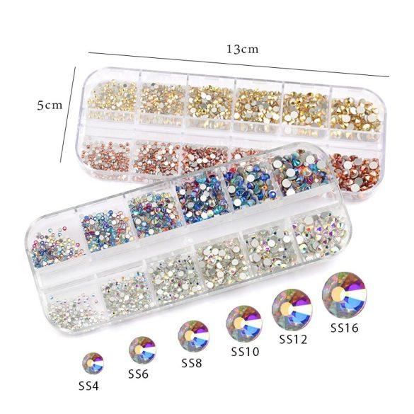 1440 darabos kristály strassz készlet S10