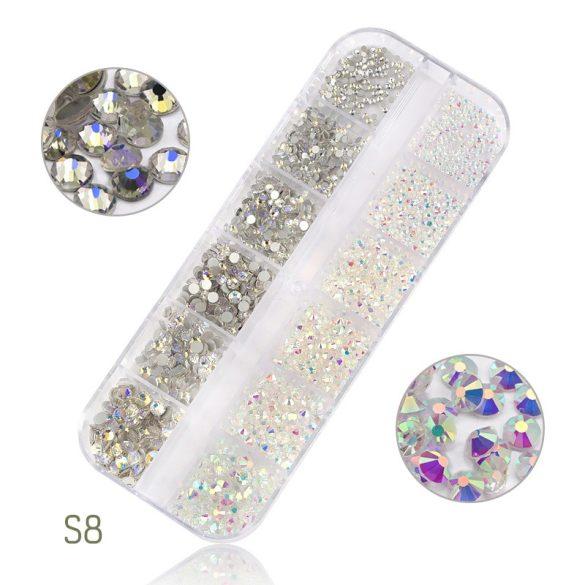 1440 darabos kristály strassz készlet S8