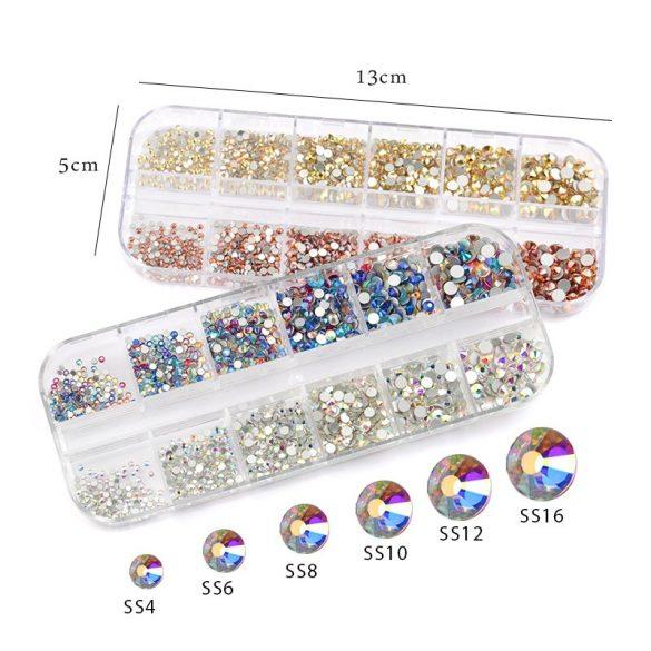 1440 darabos kristály strassz készlet S9