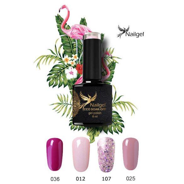 Pink színválogatás, 4 db-os CCO minőségi gél lakk szett