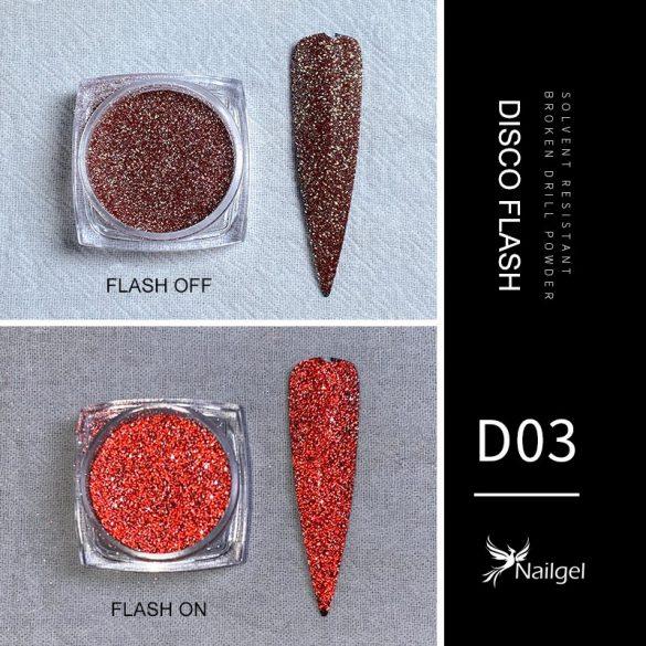 Disco Flash effekt csillámpor D03