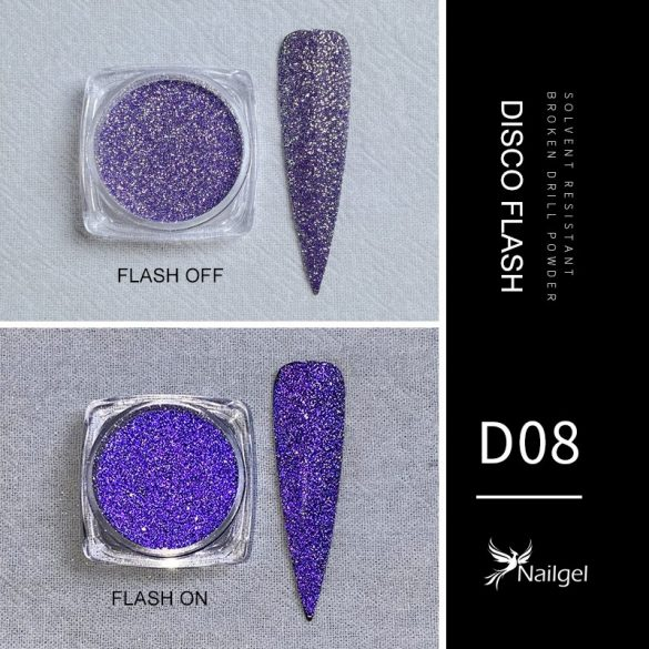 Disco Flash effekt csillámpor D08