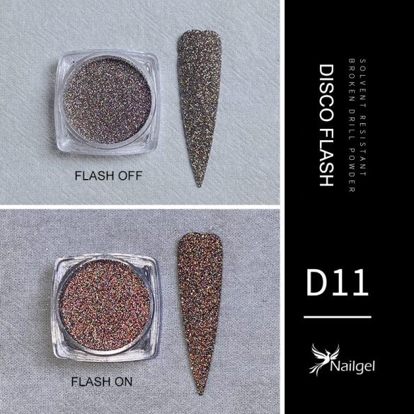 Disco Flash effekt csillámpor D11
