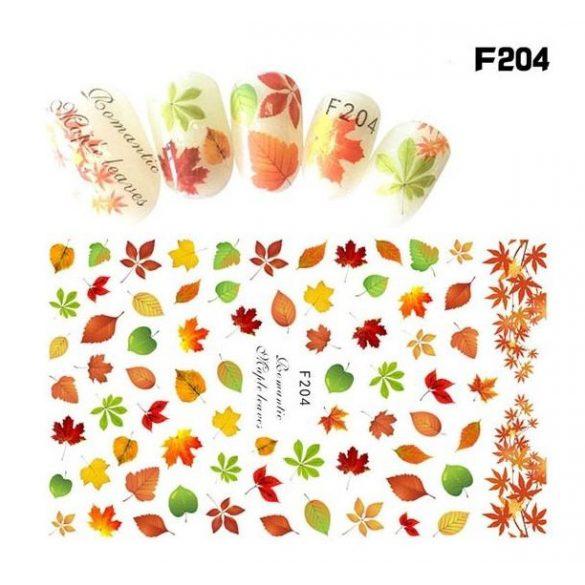 Őszi leveles köröm matrica 8