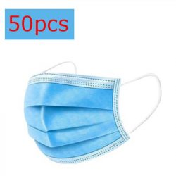 3 rétegű, eldobható orvosi szájmaszk - univerzális méret 50 db