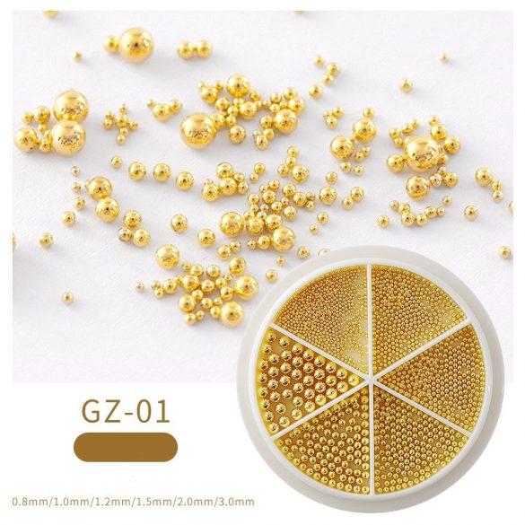 Arany szórógyöngy /kaviár vegyes méret
