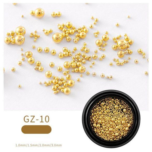 Arany szórógyöngy /kaviár vegyes méret  - kis kiszerelés