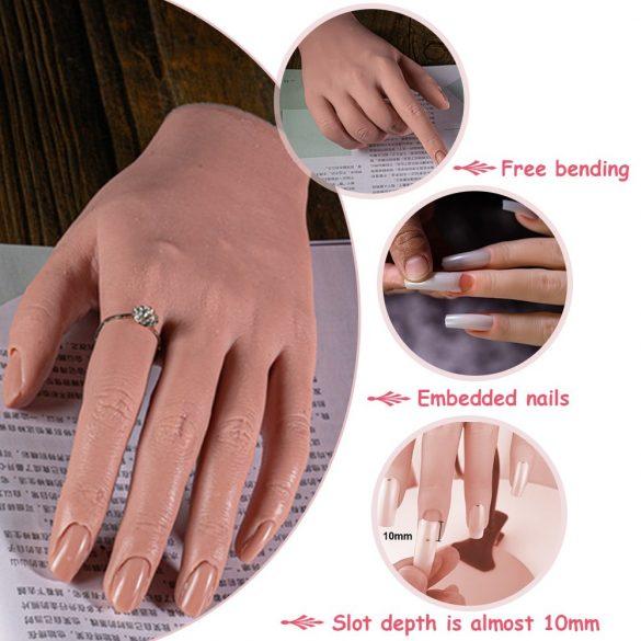 Élethű szilikon gyakorló kéz állványon - jobb