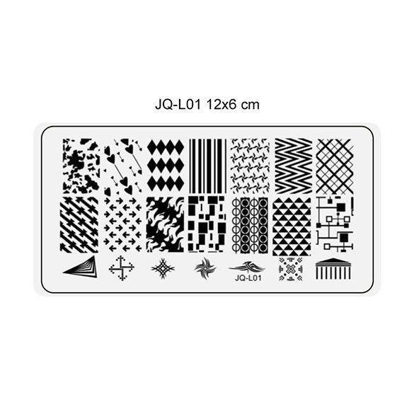 Körömnyomda lemez 6x12 cm méretű -JQ-L01