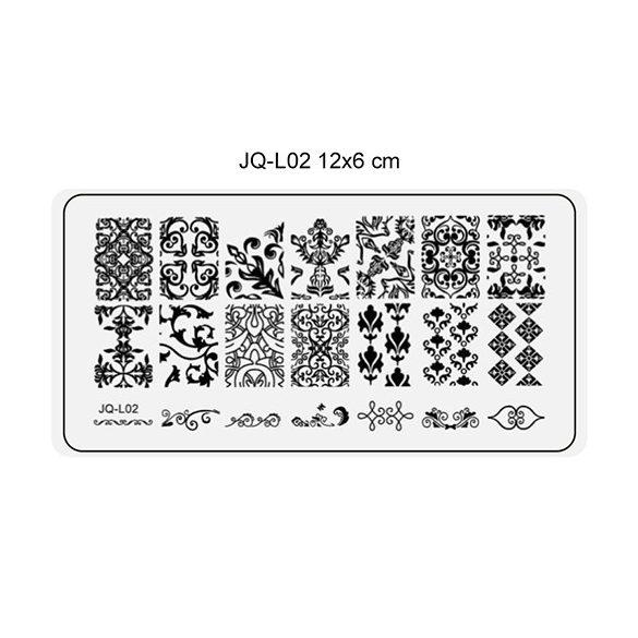 Körömnyomda lemez 6x12 cm méretű -JQ-L02