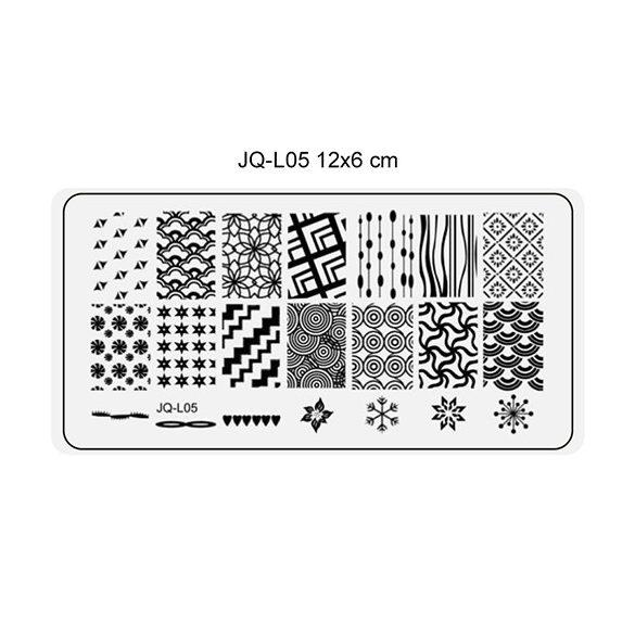 Körömnyomda lemez 6x12 cm méretű -JQ-L05