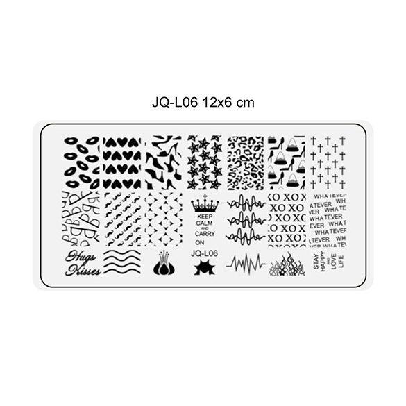 Körömnyomda lemez 6x12 cm méretű -JQ-L06