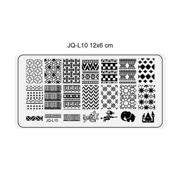 Körömnyomda lemez 6x12 cm méretű -JQ-L10