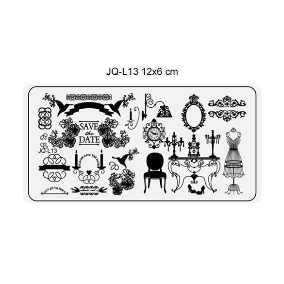 Körömnyomda lemez 6x12 cm méretű -JQ-L13
