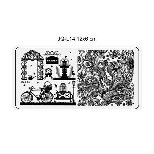 Körömnyomda lemez 6x12 cm méretű -JQ-L14