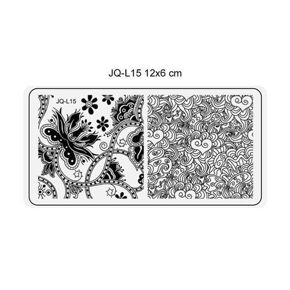 Körömnyomda lemez 6x12 cm méretű -JQ-L15
