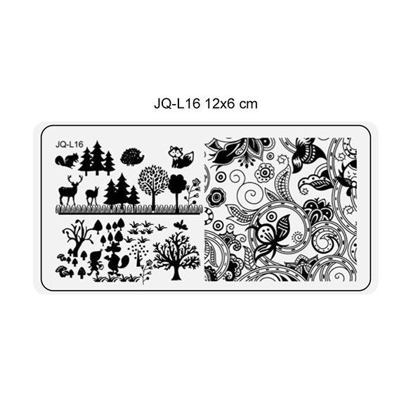 Körömnyomda lemez 6x12 cm méretű -JQ-L16