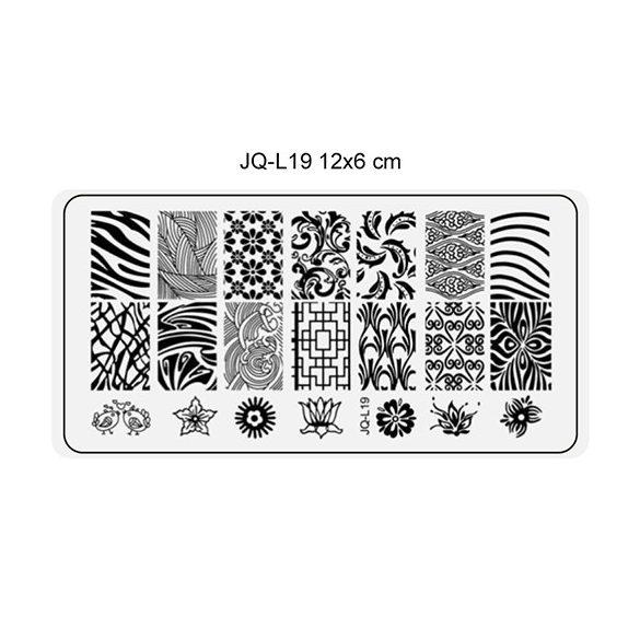 Körömnyomda lemez 6x12 cm méretű -JQ-L19