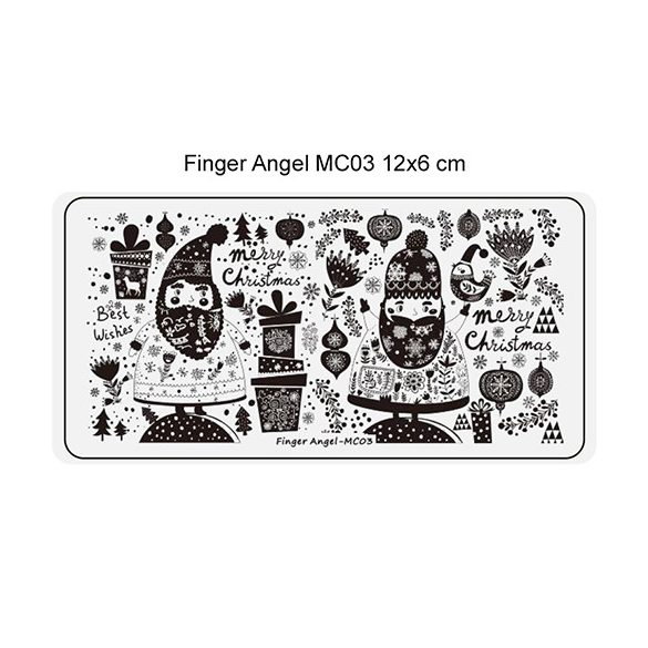 Körömnyomda lemez 6x12 cm méretű - MC03