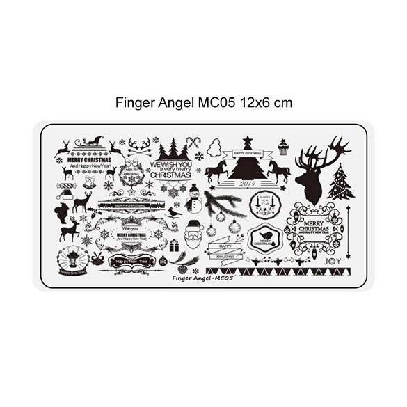 Körömnyomda lemez 6x12 cm méretű - MC05