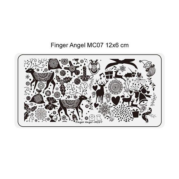 Körömnyomda lemez 6x12 cm méretű - MC07