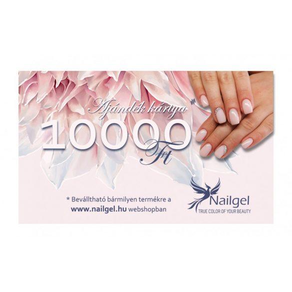 Nailgel ajándék kártya10000 Ft értékben