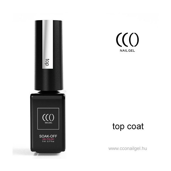Fényzselé CCO Top Coat Géllakk  5ml