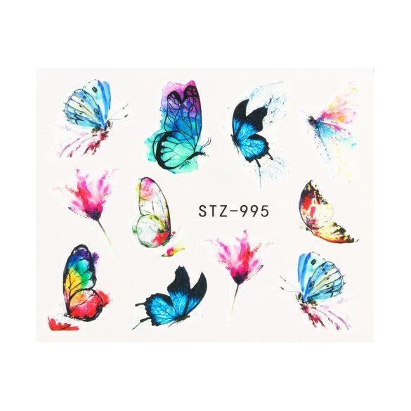 Pillangós körömmatrica 11