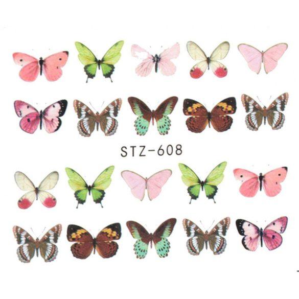 Pillangós köröm matrica 1