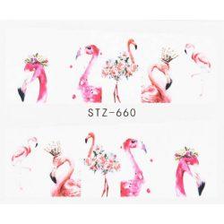 Flamingós körömmatrica 3