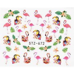 Flamingós körömmatrica 4