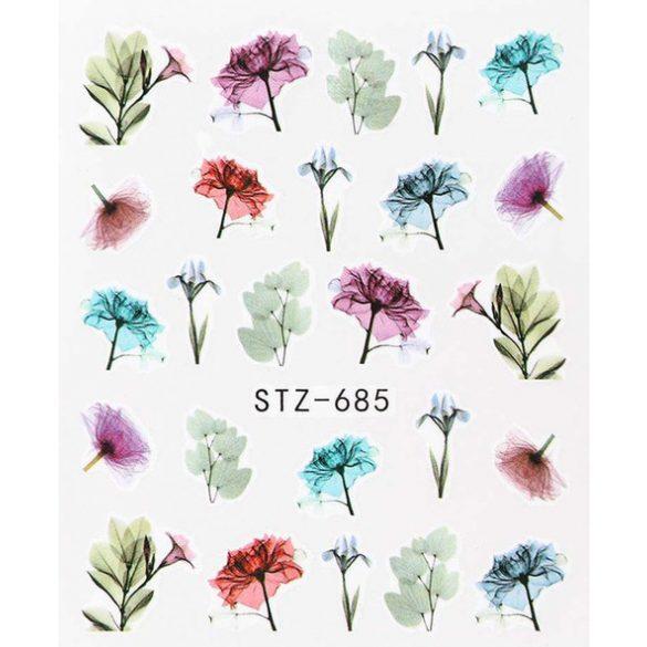 Virágos köröm matrica 6