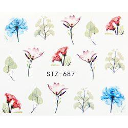 Virágos köröm matrica 8