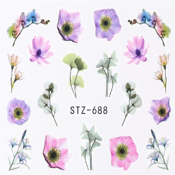 Virágos köröm matrica 9