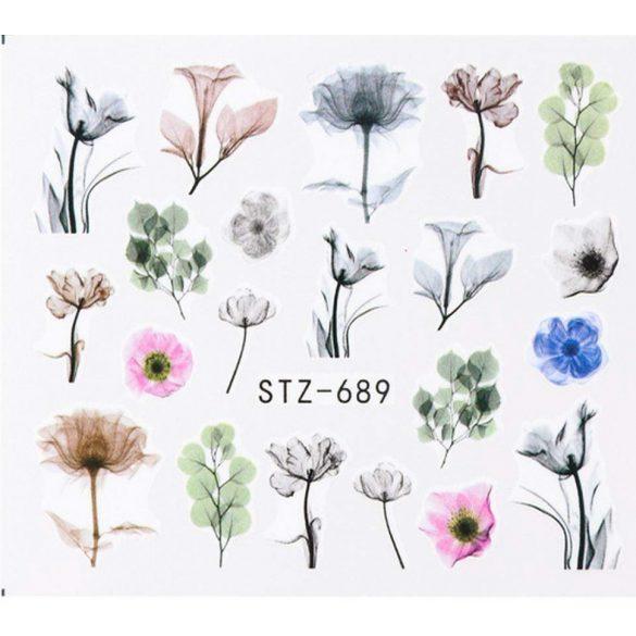 Virágos köröm matrica 10