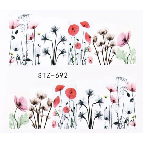 Virágos köröm matrica 12