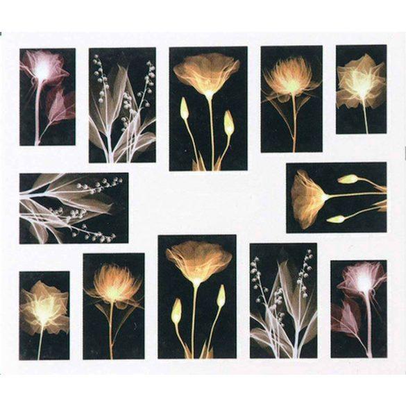 Virágos köröm matrica 14