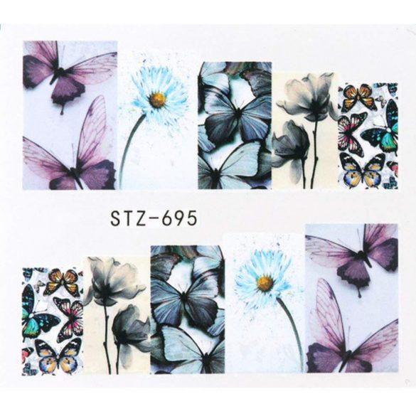 Virágos köröm matrica 15